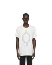 Givenchy Off White Printed Mirror T Shirt