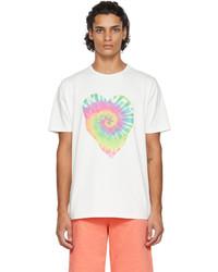 Paul Smith Off White Tie Dye Heart T Shirt