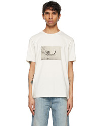 Saint Laurent Off White Wave Surfer T Shirt