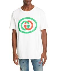 Gucci Oversize Interlocking G Logo Cotton T Shirt