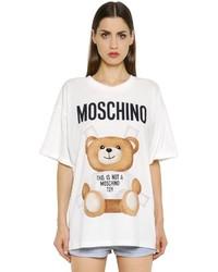 Moschino Oversized Bear Printed Jersey T Shirt