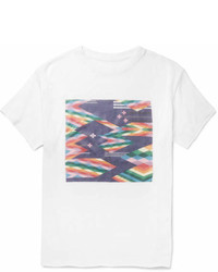 The Elder Statesman Oversized Printed Cashmere And Silk Blend T Shirt