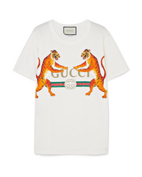 Gucci Oversized Printed Stretch Cotton Jersey T Shirt