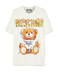 Moschino Oversized Printed Stretch Cotton Jersey T Shirt