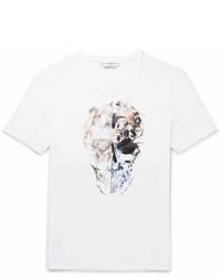 Alexander McQueen Patchwork Printed Cotton Jersey T Shirt