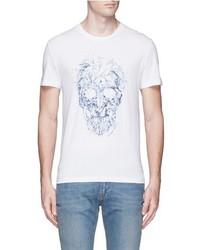 Alexander McQueen Porcelain Skull Print T Shirt