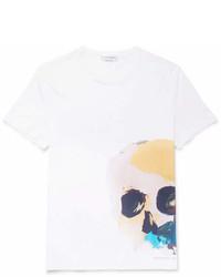 Alexander McQueen Printed Cotton Jersey T Shirt