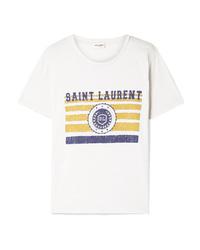 Saint Laurent Printed Cotton Jersey T Shirt