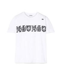 Miu Miu Printed Cotton Jersey T Shirt