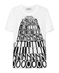 Valentino Printed Cotton Jersey T Shirt