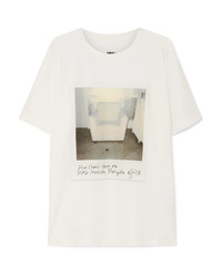 MM6 MAISON MARGIELA Printed Cotton Jersey T Shirt