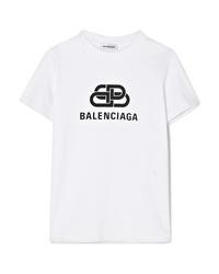 Balenciaga Printed Cotton Jersey T Shirt