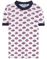 Prada Printed Cotton T Shirt