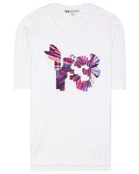 Y-3 Printed Cotton T Shirt