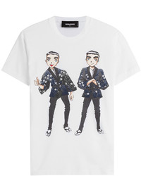 DSQUARED2 Printed Cotton T Shirt