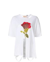 Night Market Printed Rose T Shirt