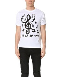 Paul Smith Ps By Regular Fit Tee With Music Note Print