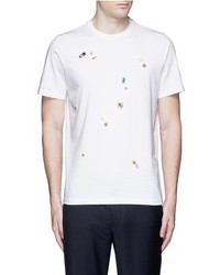 Paul Smith Ps By Tablet Print Cotton T Shirt
