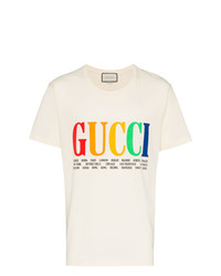 Gucci Rainbow Cities Print Cotton T Shirt