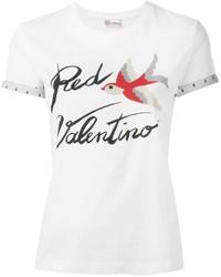 RED Valentino Bird Print T Shirt