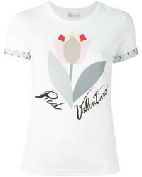RED Valentino Tulip Print T Shirt