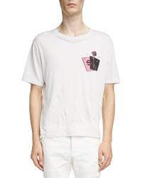 Saint Laurent Rose Graphic T Shirt
