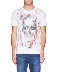 Alexander McQueen Scrap Paper Skull Print T Shirt
