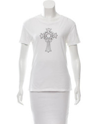 Chrome Hearts Screen Print Scoop Neck T Shirt