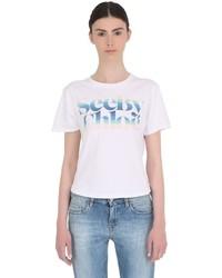 See by Chloe Butterflies Logo Cotton Jersey T Shirt