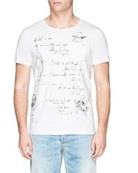 Scotch & Soda Shipman Illustration Print T Shirt