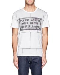 Alexander McQueen Sign Print T Shirt