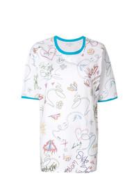 Mira Mikati Sketch Print T Shirt