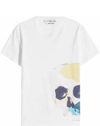 Alexander McQueen Skull Printed Cotton T Shirt