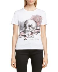 Alexander McQueen Skull Shell Graphic Tee
