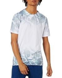 Topman Slim Fit Leaf Print T Shirt
