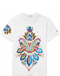 Etro Slim Fit Printed Cotton Jersey T Shirt
