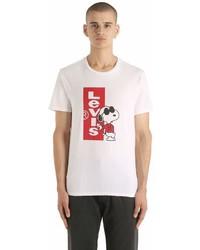 Levi's Snoopy Logo Print Cotton Jersey T Shirt