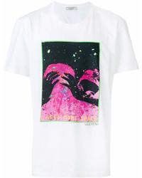Valentino Space Print T Shirt