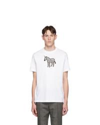 Ps By Paul Smith Ssense White Zebra Regular Fit T Shirt