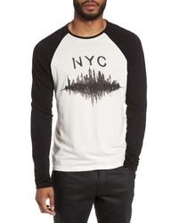 John Varvatos Star Usa Nyc Graphic Raglan Sleeve T Shirt