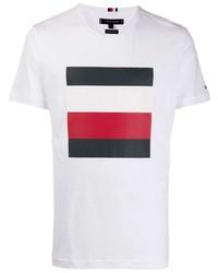 Tommy Hilfiger Stripe Logo T Shirt