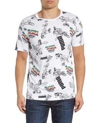 Puma Super Allover Graphic Regular Fit T Shirt