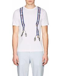 Fendi Suspender Print Cotton T Shirt