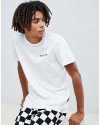 YOURTURN T Shirt With Slogan Print In White