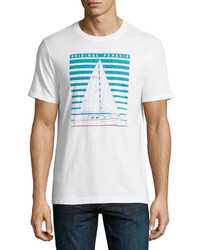 Original Penguin Technical Yacht Graphic Tee White