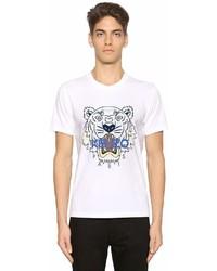 Kenzo Tiger Printed Cotton Jersey T Shirt
