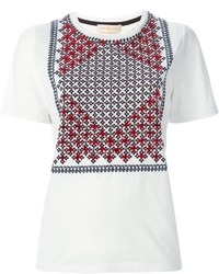 Tory Burch Tasseled Print T Shirt