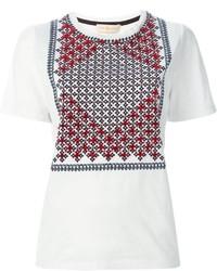 Tory Burch Tasseled Print T Shirt