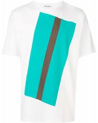 Tudes Colour Block Print T Shirt