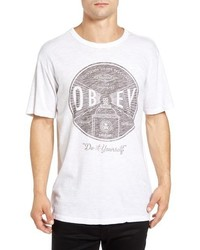Obey Under Pressure Graphic Crewneck T Shirt